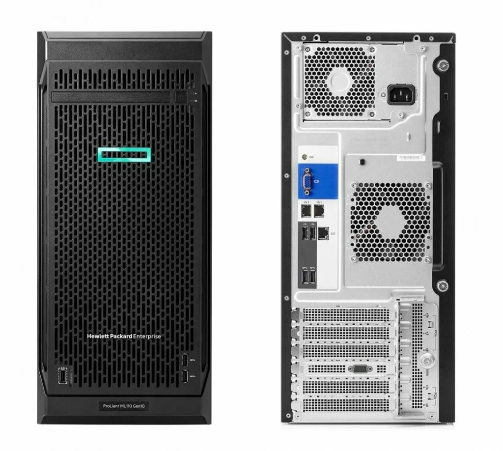 Сервер HPE ProLiant ML110 Gen10 1x4208 1x16Gb x8 S100i 1x800W (P21440-421)